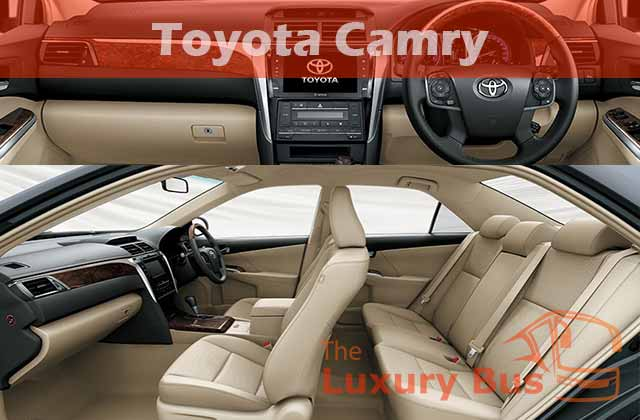 Sewa Mobil Mewah di Bandung Toyota Camry Interior
