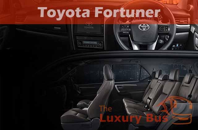 Sewa Mobil Mewah di Bandung Toyota Fortuner Interior